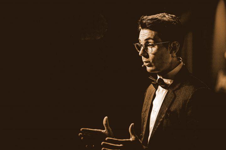 Max Hagenbuchner auf der Bühne